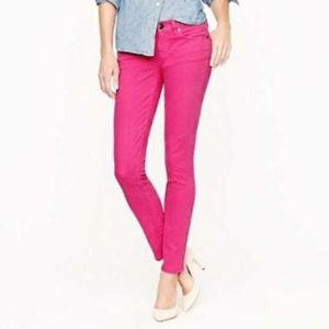 J crew toothpick skinny jeans pink
